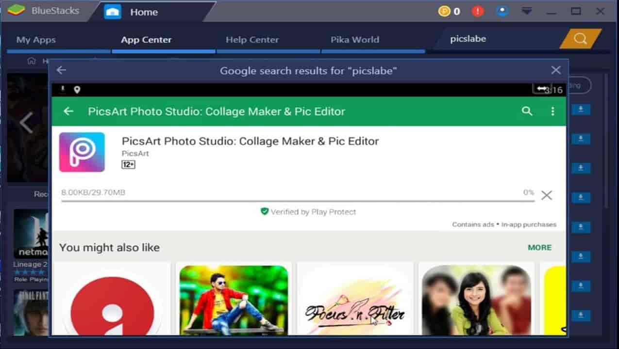 picsart windows 7 pc download