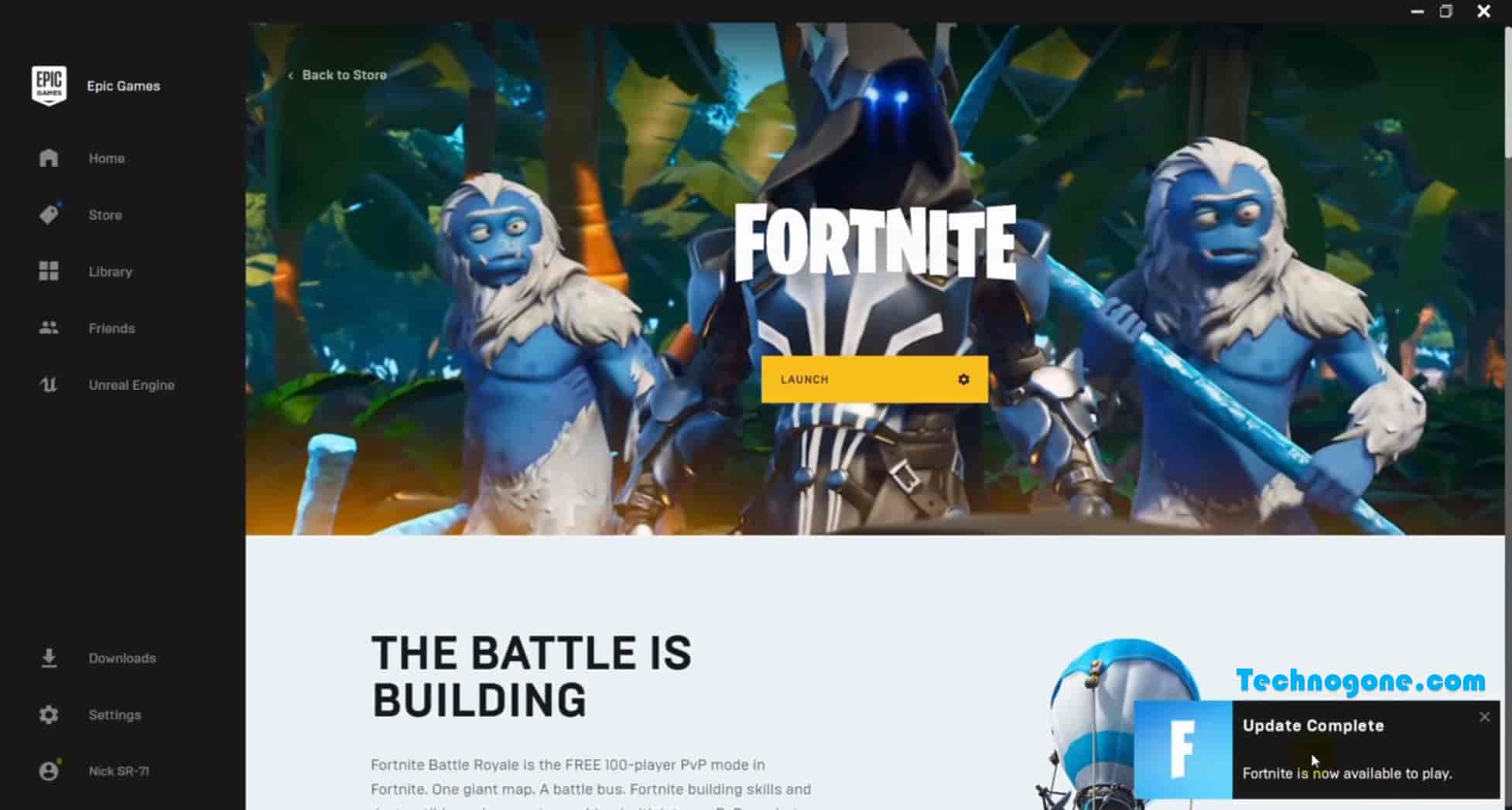 fortnite download for pc