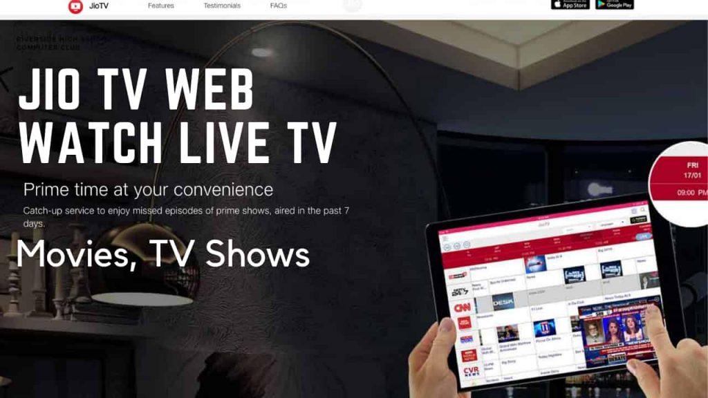 Jio TV Web Version