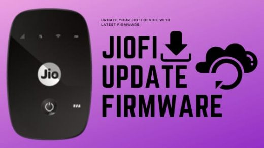JioFi Update Firmware