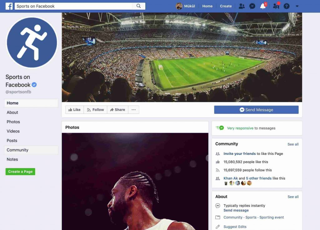 facebook sports streaming
