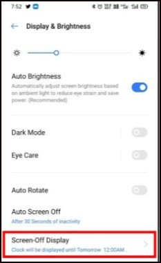 How To Enable Always-on display On Realme