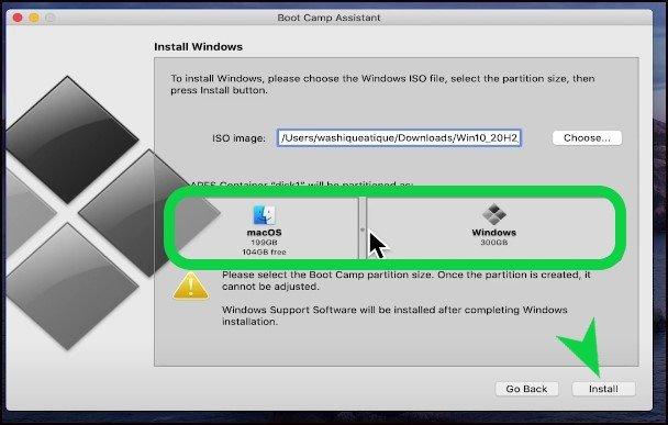 Windows installation on mac