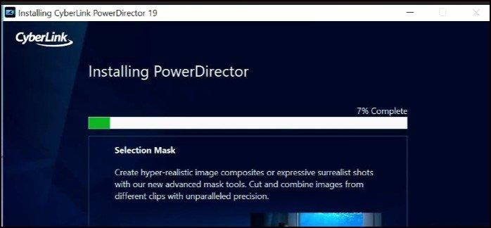 Setup of PowerDirector