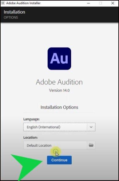 Adobe Audition installation